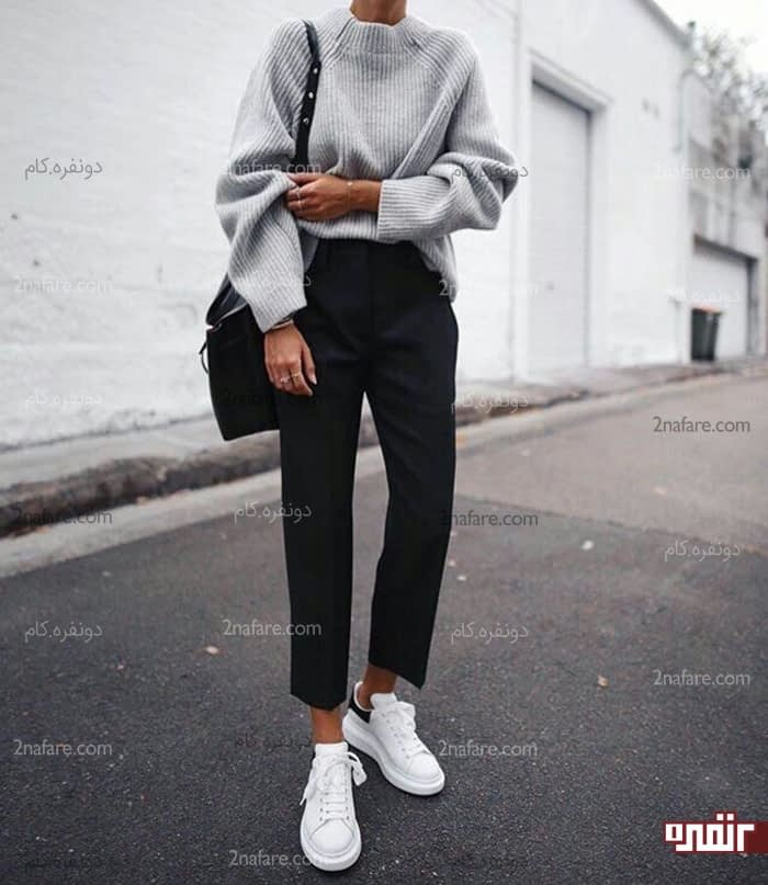 مانتو لگ خانم های لاغر چگونه لباس بپوشند؟ • دونفره
