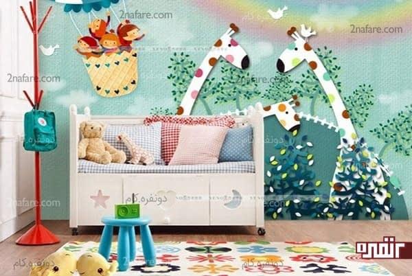 نقاشی های دیواری جذاب و کودکانه برای اتاق کودک