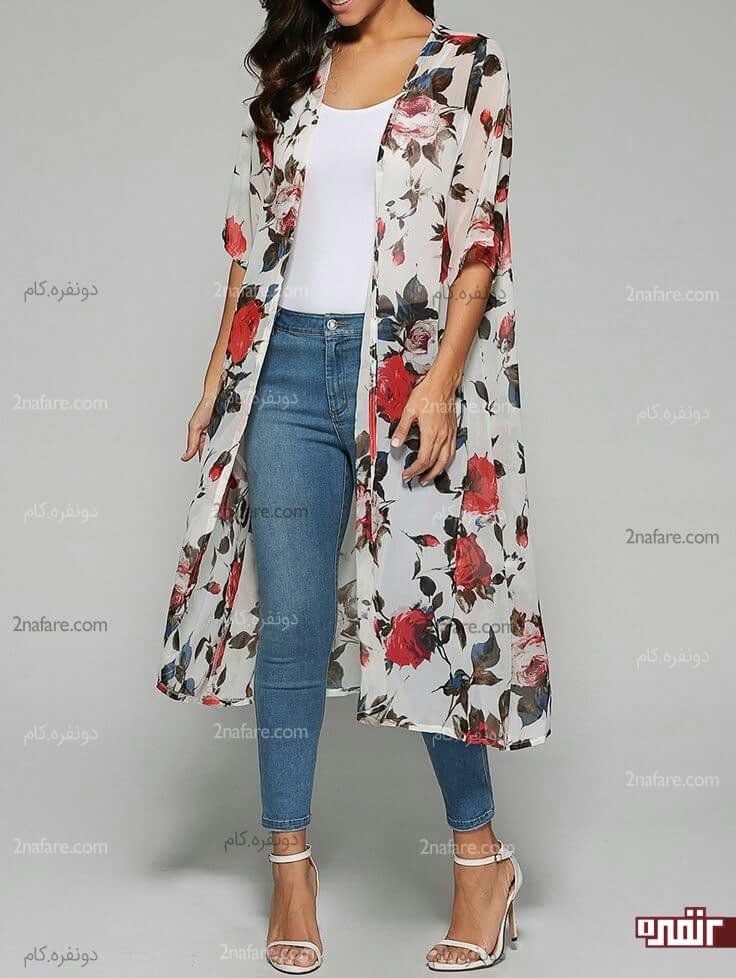 مدل لباس نخی بلوز اصول ست کردن مانتو های حریر گلدار با لباس ها • دونفره