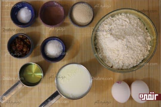 مواد لازم برای تهیه نان