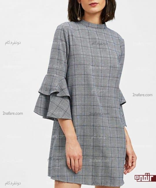 پیراهن جدید آستین دو طبقه برای عید دیدنی