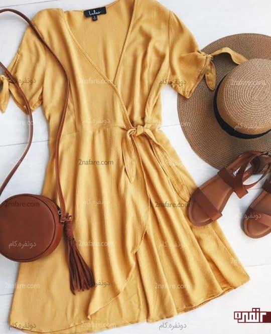 پیراهن های چپ و راست بندی برای اندام سیبی