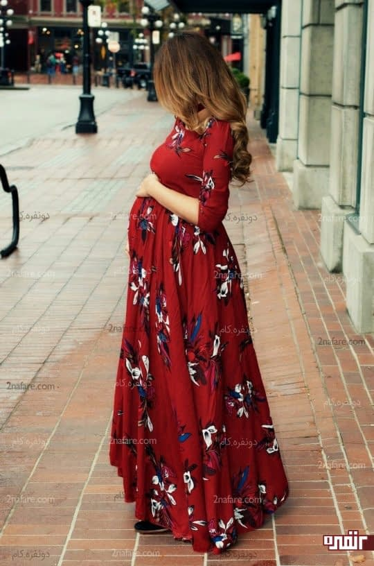 پیراهن گلدار بارداری