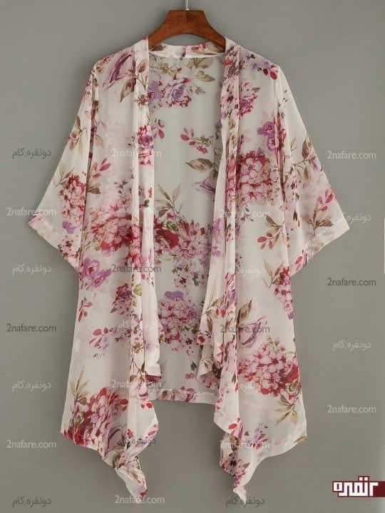 ژاکت کوتاه گلدار