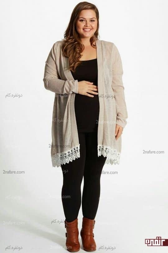 ژاکت گشاد مناسب حاملگی