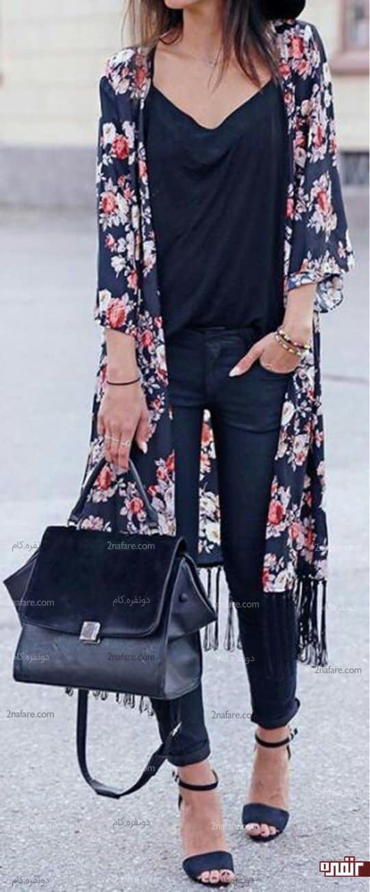 کت بلند ریشه دار گلدار