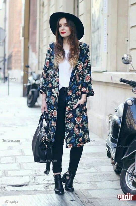کت بلند گلدار