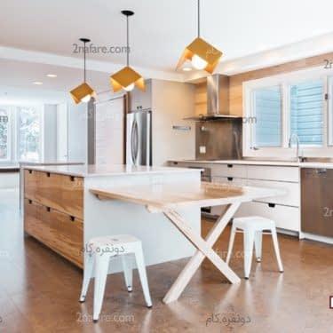 کفپوش چوب پنبه ای انتخابی زیبا و راحت برای آشپزخانه ی شما