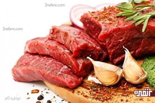 گوشت منبع روی و آهن