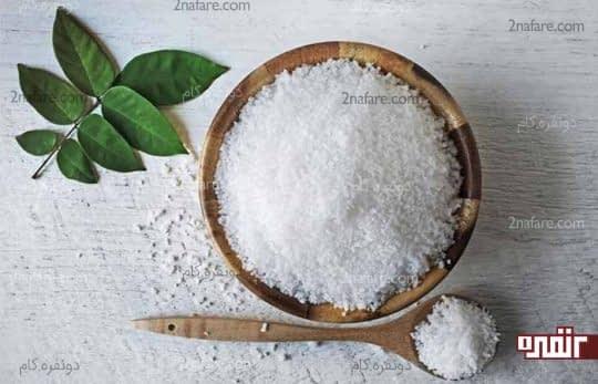 نمک برای کاهش التهاب زبان
