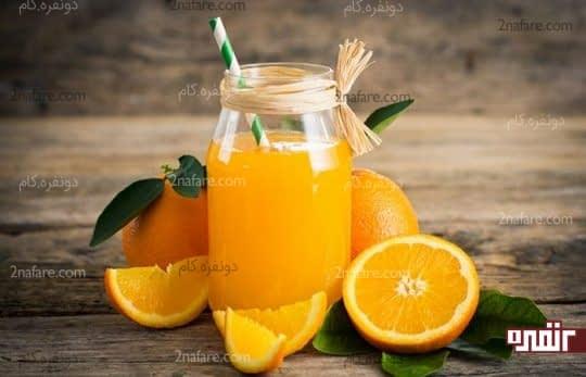آب پرتقال برای درمان کم آبی بدن