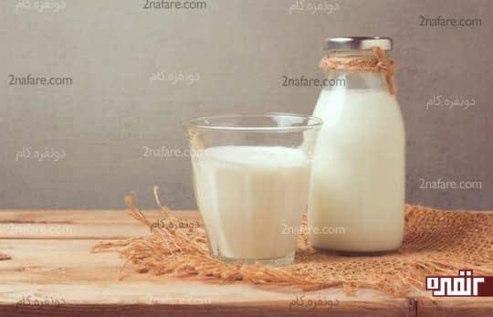 شیر برای درمان التهاب و تاول زبان