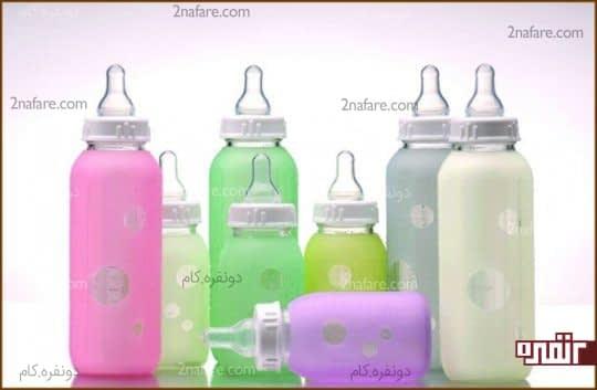 بطری شیر شیشه ای