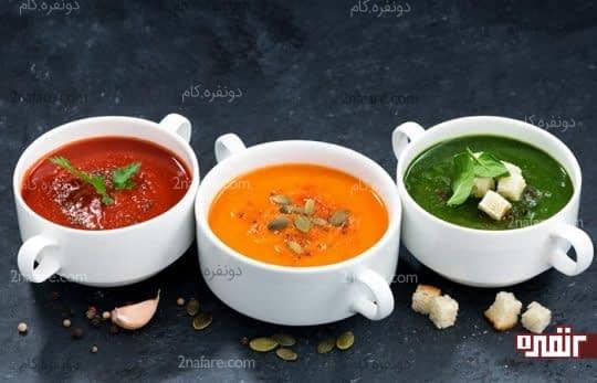 سوپ برای کمبود آب بدن