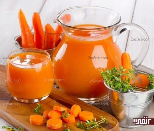 هویج هضم غذا رو سریع میکنه