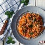 طرز تهیه پاستا با سس گوجه فرنگی مرحله به مرحله