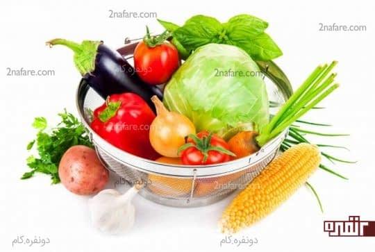 سبزیجات خام مفید برای هضم غذا