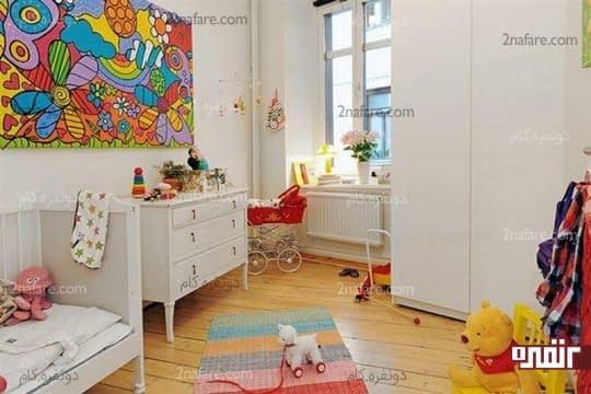 آرامش اتاق خواب کودک با رنگ سفید