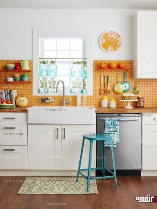 آشپزخانه ای زیبا با دکوری های ساده