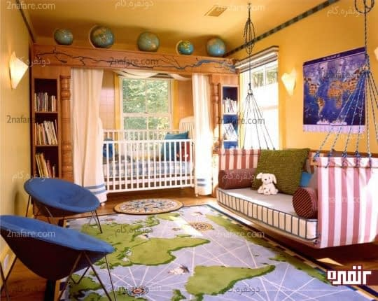 اتاقی شگفت انگیز با رنگ زرد