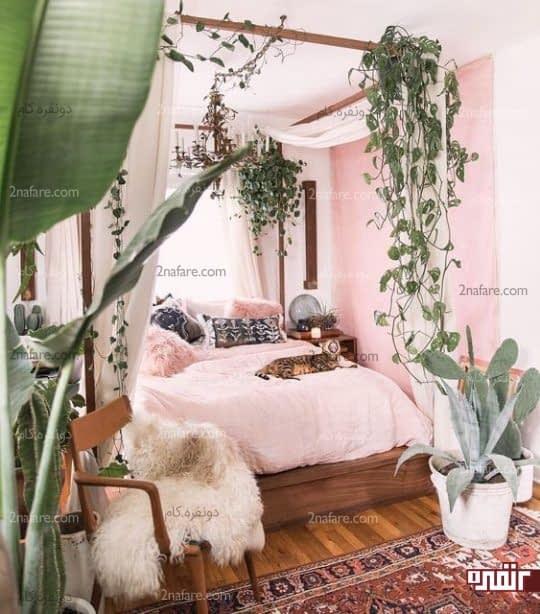 اتاق خوابی پر از گل و شادابی
