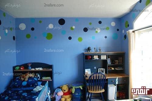 انتخاب رنگ آبی برای اتاق خواب کودک