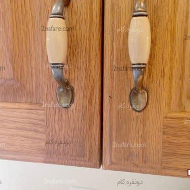 تمیز کردن چربی های کابینت چوبی آشپزخانه