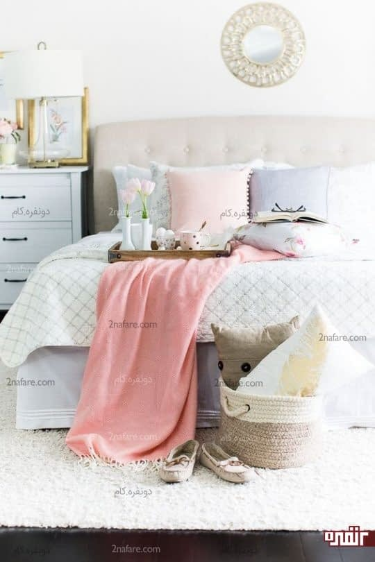 رنگ های شاد و پاستلی در دکوراسیون اتاق خواب