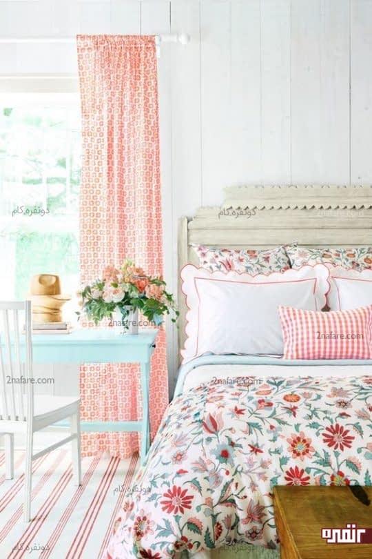 تزیین اتاق خواب به سبک بهاری