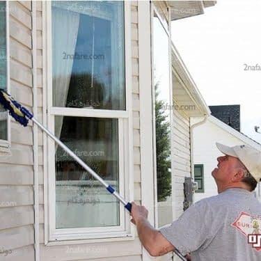 روش شستن پنجره ها از بیرون
