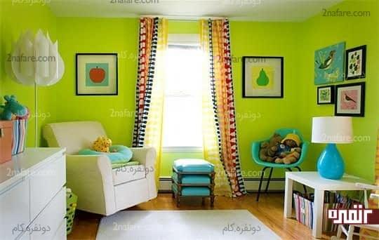 سبز انتخابی مناسب برای اتاق خواب کودکان