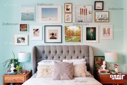 مجموعه ای از تصاویر زیبا برای ایجاد گالری دیواری در اتاق خواب