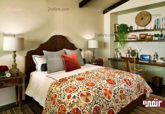 شلف و قفسه بندی باز در اتاق خواب