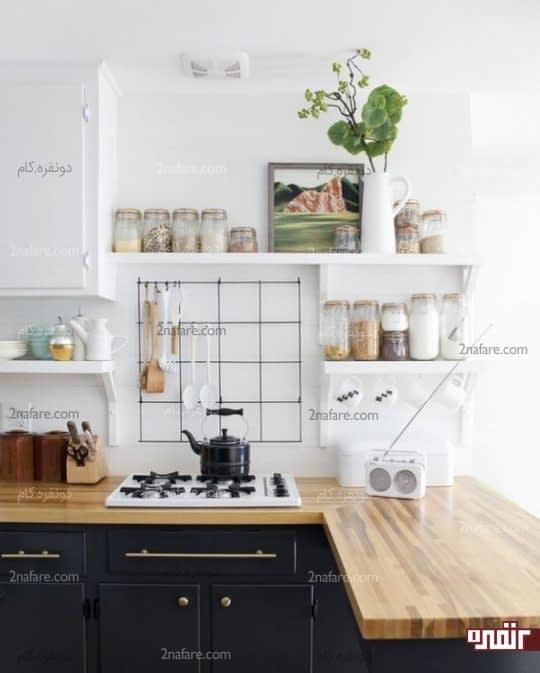 کاربرد لوازم ساده ی آشپزخانه به عنوان دکوری