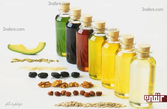 نمونه هایی از روغن مایع و گیاهی