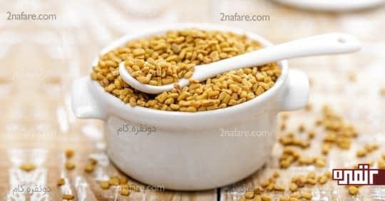 استفاده از دانه شنبلیله برای از بین بردن شوره سر