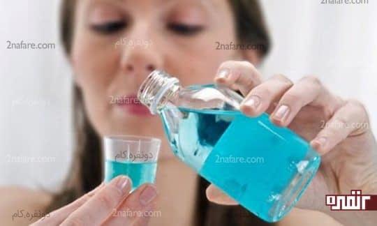 دهان شو فلوراید برای کاهش حساسیت دندان
