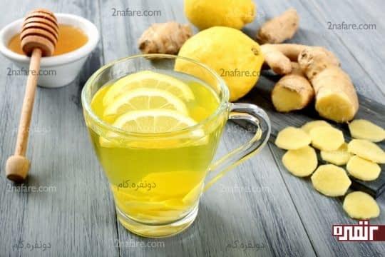 درمان سرماخوردگی با زنجبیل عسل