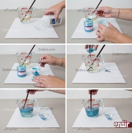 اضافه کردن رنگ به صابون