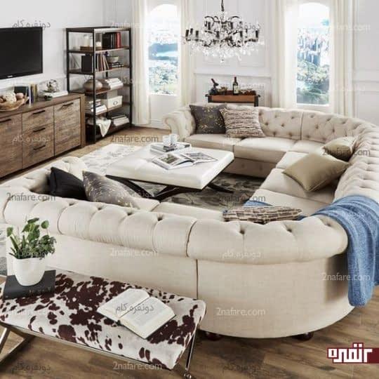 انتخاب کاناپه برای فضای جلوی تلوزیون