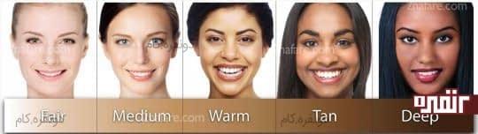 انواع رنگ بندی پوست
