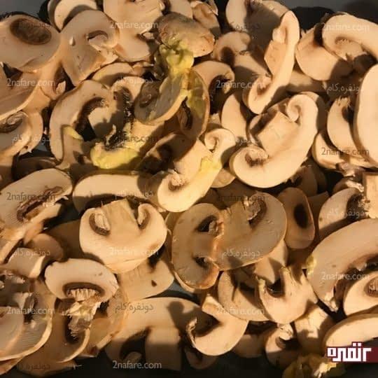 تفت دادن قارچ