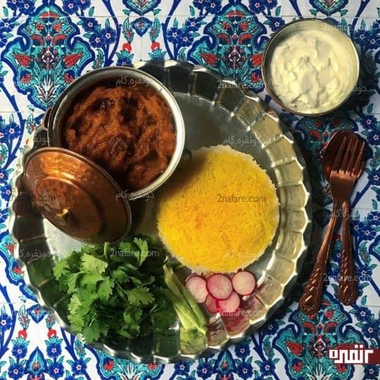 خوراک بادمجان کبابی