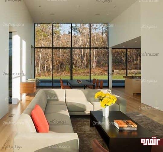 خونه مدرن با کاناپه های شیک