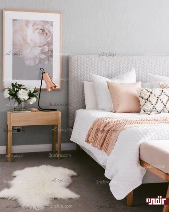 دکور بهاری اتاق خواب با رنگ و طرح شاد