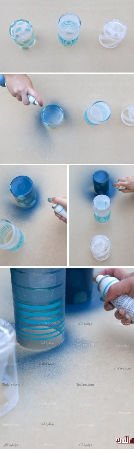 رنگ آمیزی شیشه ها