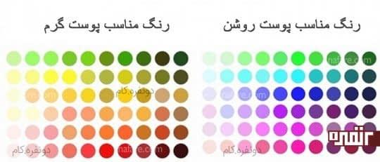 رنگ های مناسب پوست های مختلف