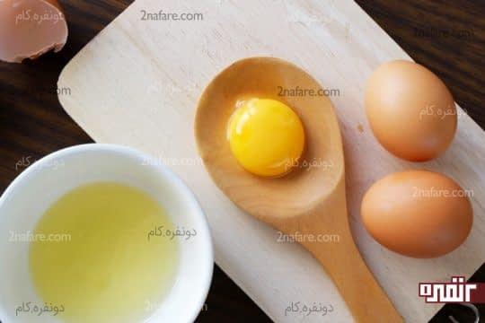 زرده تخم مرغ و سریعتر شدن رشد ابرو