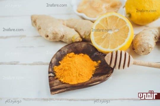 ماسک لیمو و زردچوبه برای زدودن موهای زائد