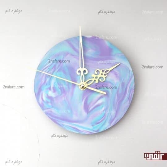 ساعت دیواری با خمیر فیمو